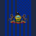 Pennsylvania State Flag Graphic Usa Styling by Garaga Designs