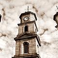 Penryn Clock Tower In Sepia by Terri Waters