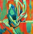 Pensive Male Figure by Helena Wierzbicki
