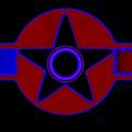 Pentagram In Red by Charles Stuart