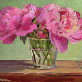 Peonies In Tumbler by Keith Burgess