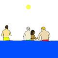 People In Pool by Olivia Domingos