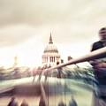 People On Millennium Bridge In London by Leonardo Patrizi