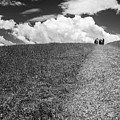 People On The Hill Bw by Joan Carroll