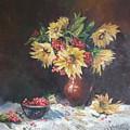 Still-life With Sunflowers by Kateryna Kostiuk-Shostka