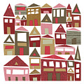 Peppermint Village by Tonya Doughty