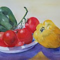 Peppers And Tomatoes by Vivian Larson