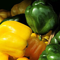 Peppers Yellow And Green by Ian  MacDonald