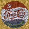 Pepsi Bottle Cap Mosaic by Paul Van Scott