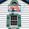 Pepsi Window At Ambler's Texaco Gas Station by John Rizzuto