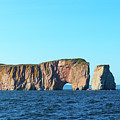 Perce Rock In Gaspe, Quebec by Les Palenik