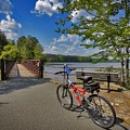 Perfect Weather For Cycling At Lake Brandt by Matt Taylor
