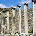 Pergamon Asklepion Colonnade by Bob Phillips