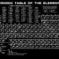 Periodic Table Of Elements In Black by Bill Cannon