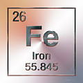 Periodic Table Of Elements - Iron Fe by Serge Averbukh