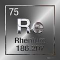 Periodic Table Of Elements - Rhenium by Serge Averbukh