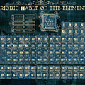Periodic Table Of The Elements Vintage 4 by Bekim M