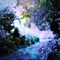 Fantasy Garden Path Periwinkle by Johari Smith