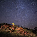 Perseids Over Caprock Canyons by Melany Sarafis