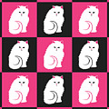 Persian Cat Pattern by Antique Images