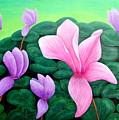 Persian Violet Cyclamen by Lyn Simpson