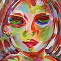 Persistence - Contemporary Art Face by Lauri Crowe