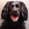 Pet Portrait Of A Black Labrador by Eric Bossik