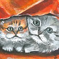 Pet Portraits-two Kitties by Sarah Lowe