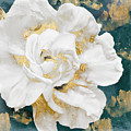 Petals Impasto White And Gold by Mindy Sommers