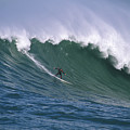 Pete On A Perfect Day At Mavericks by Stan and Anne Foster