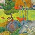 Petit Breton A L'oie by Paul Gauguin