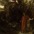 Petrarch By The Fountain Of Vaucluse by Bocklin Arnold