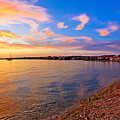 Petrcane Beach Golden Sunset View by Brch Photography