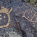 Petroglyph Monument Faces by Kyle Hanson