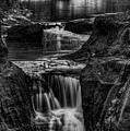 Pewits Nest Waterfalls In Black And White by Dale Kauzlaric