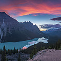 Peyto Lake At Dusk by William Freebilly photography