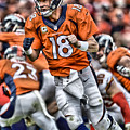 Peyton Manning Art 2 by Joe Hamilton