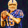 Peyton Manning Indianapolis Colts Nfl Football Painting Digital by David Haskett II