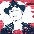 Pharrell Graffiti Tribute by Dan Sproul