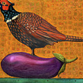 Pheasant On An Eggplant by Leah Saulnier The Painting Maniac