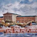 Philadelphia Art Museum by Joyce A Guariglia