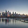 Philadelphia At Dawn From The South Street Bridge by Bill Cannon