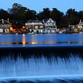 Philadelphia Boathouse Row At Twilight by Gary Whitton