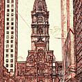 Philadelphia City Hall - Pencil by Peter Potter