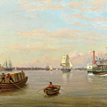 Philadelphia Harbor by Thomas Birch