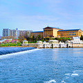 Philadelphia Museum Of Art And The Philadelphia Waterworks by Bill Cannon