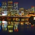 Philadelphia Pa River View by Skyline Photos of America