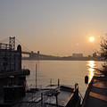 Philadelphia - Penn's Landing Sunrise by Bill Cannon