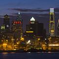 Philadelphia Skyline At Night by Brendan Reals