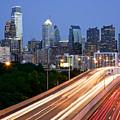 Philadelphia Skyline Night by Binh Ly